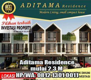 Jual Rumah Aditama Residence mulai 2.3 M di Pasar Minggu Jakarta Selatan