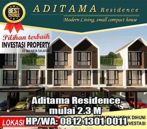 Jual Town House Aditama Residence di Pasar Minggu