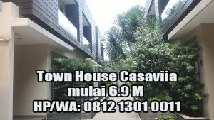 Jual Rumah Town House Casaviia mulai 6.9 M di Kemang Jakarta Selatan