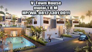 Jual Rumah V Town House mulai 1.8 M di Sawah Baru Tangerang Selatan